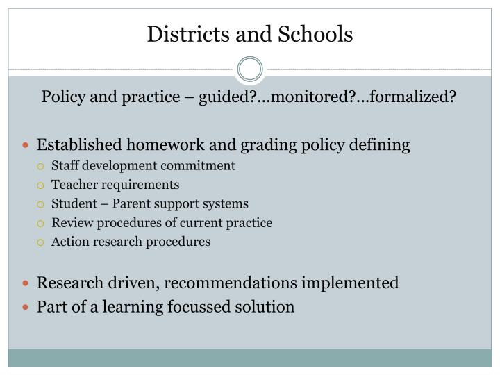 Districts and Schools