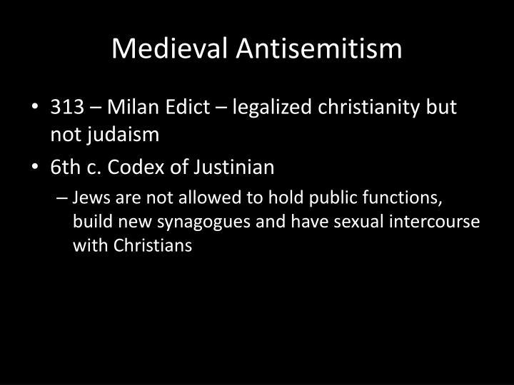 Medieval Antisemitism