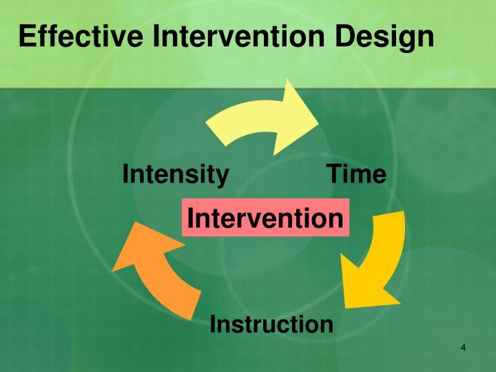 Effective Intervention Design