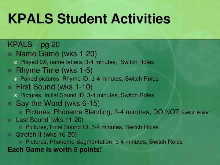 KPALS Student Activities