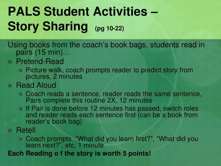 PALS Student Activities –