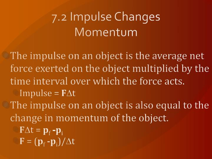 7 2 impulse changes momentum