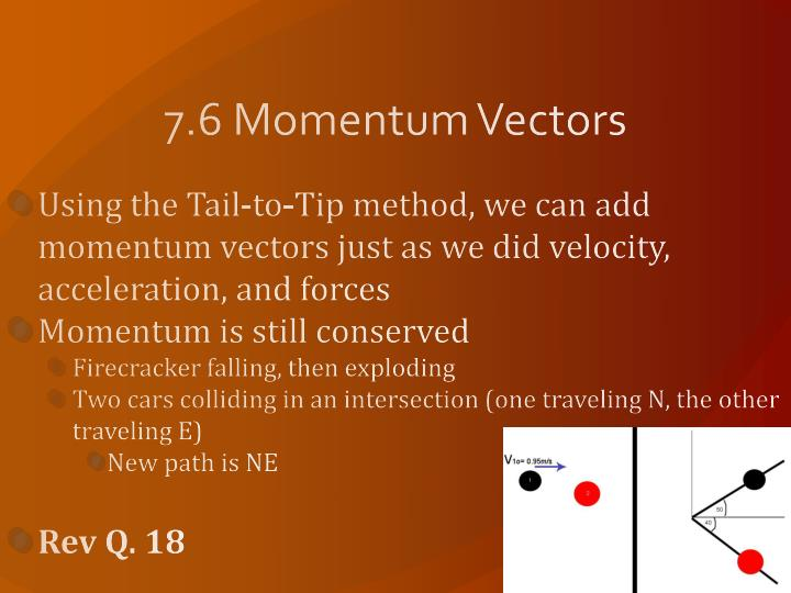 7.6 Momentum Vectors