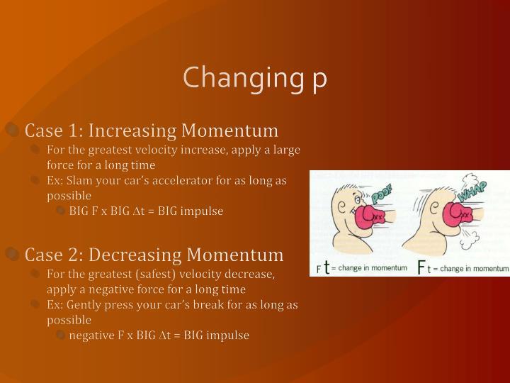 Changing p
