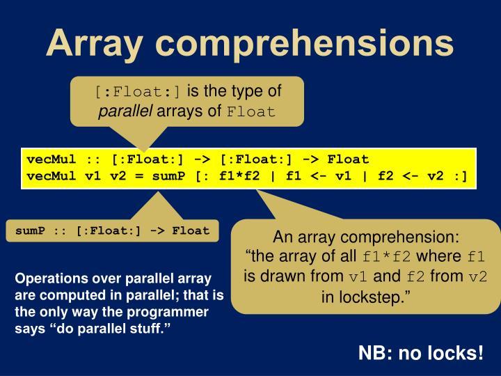 Array comprehensions