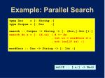 example parallel search2