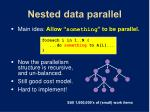 nested data parallel