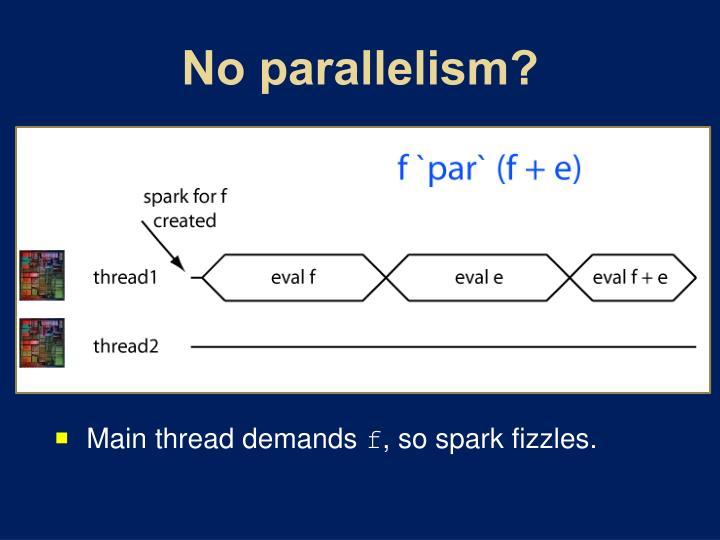 No parallelism?