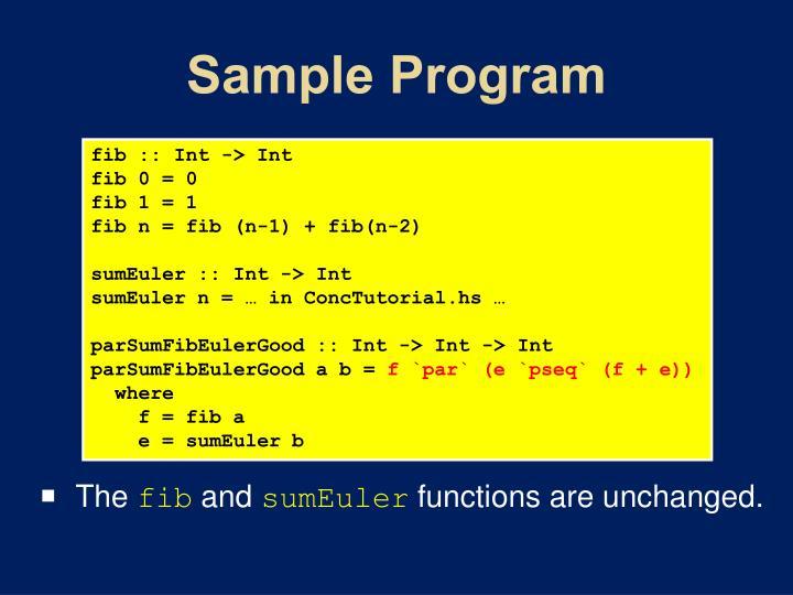 Sample Program
