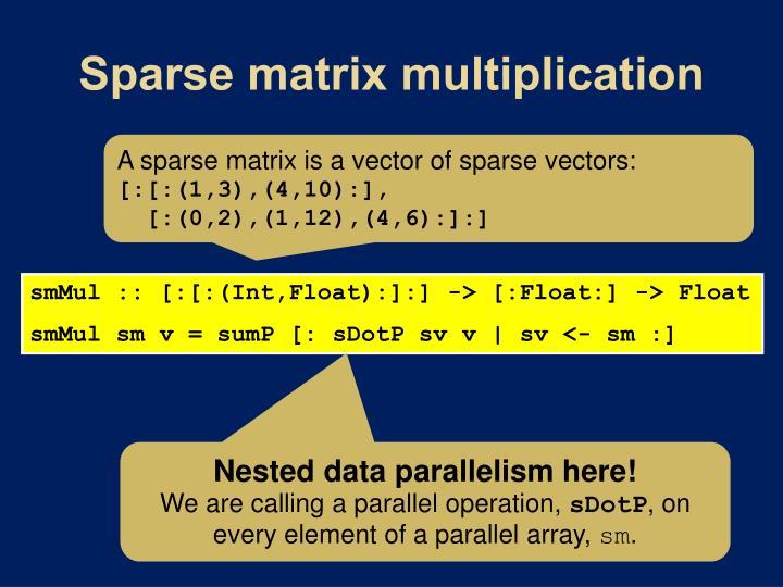 Sparse matrix multiplication