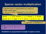 sparse vector multiplication
