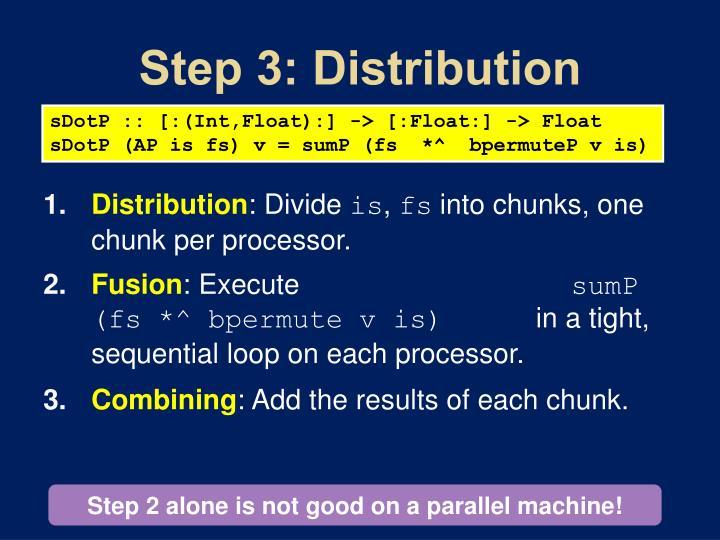 Step 3: Distribution