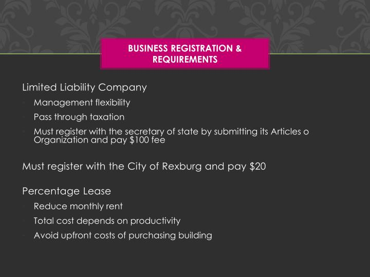 Business Registration & Requirements