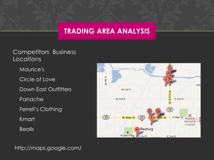 Trading Area Analysis
