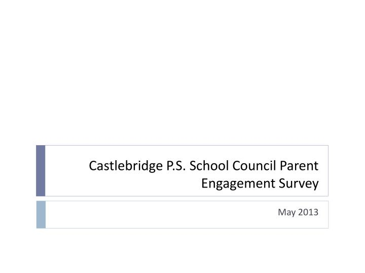 Castlebridge p s school council parent engagement survey