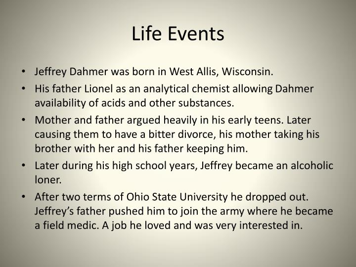 jeffery dahmer presentation It tells the story of jeffrey dahmer's adolescence, from suburban  a pop group  that's been presented as the logical successor to one direction.