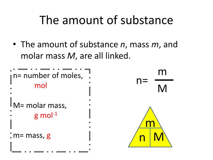The amount of substance
