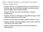 data data practices and data curation course objectives