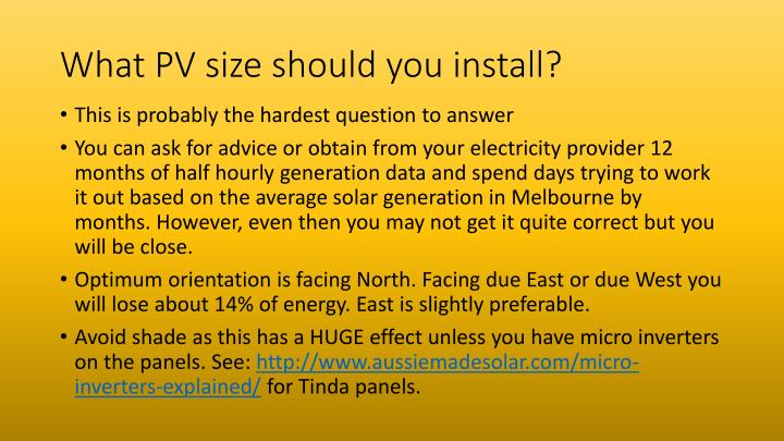What PV size should you install?