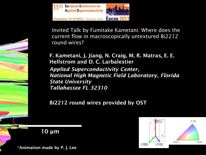 Invited Talk by Fumitake Kametani: Where