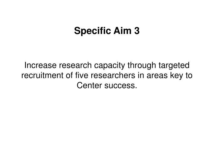 Specific Aim 3