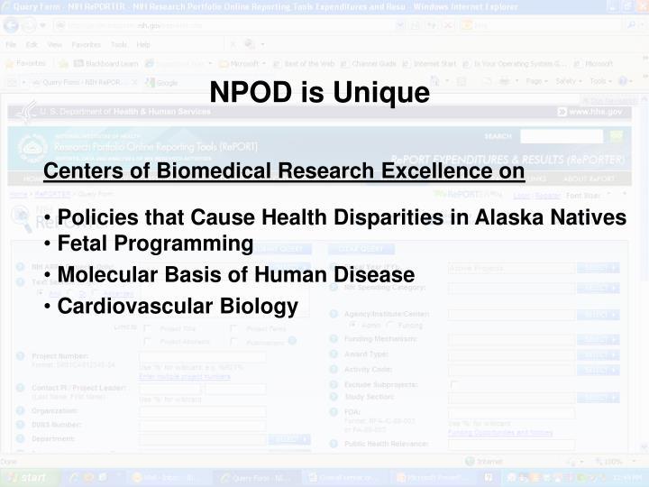 NPOD is Unique