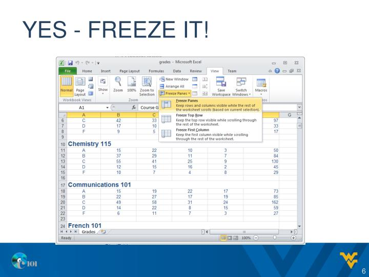 Yes - freeze it!