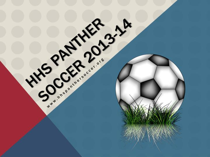 Hhs panther soccer 2013 14
