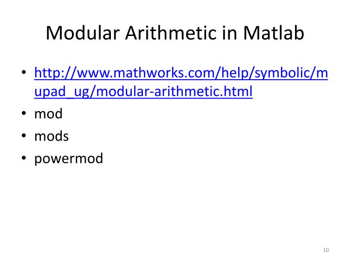Modular Arithmetic in