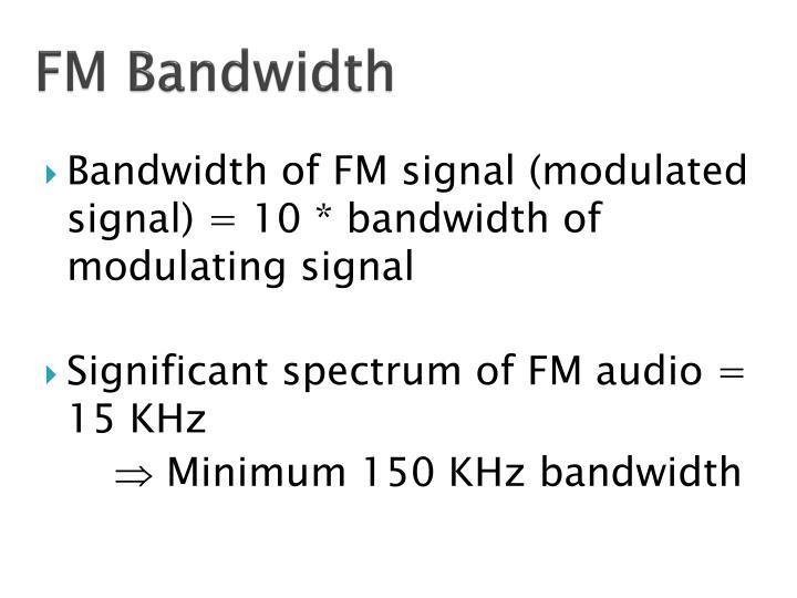 FM Bandwidth