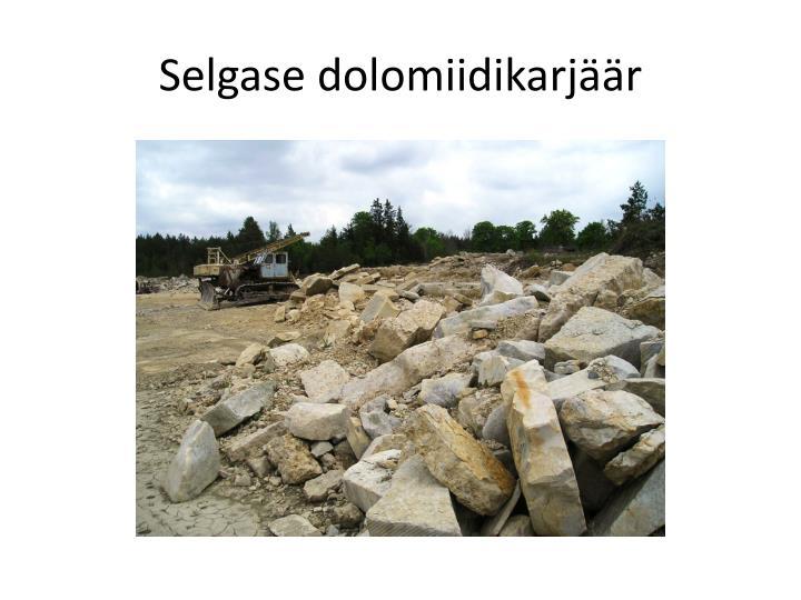 Selgase dolomiidikarjäär