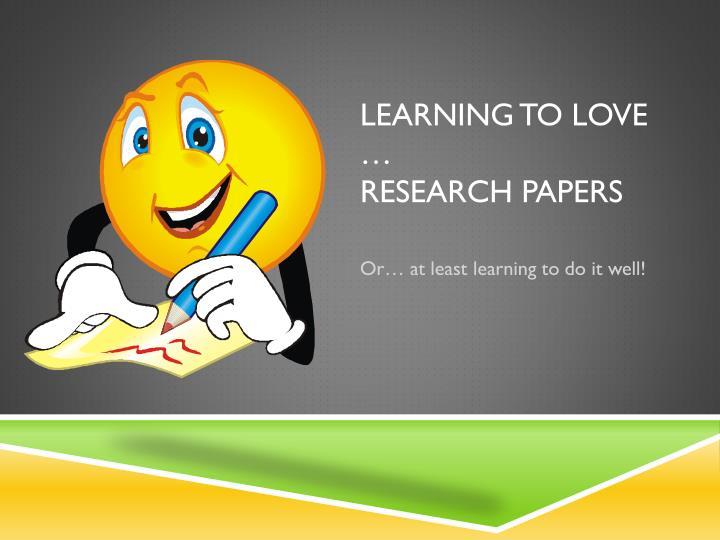presenting a research paper Papers normally require that a student identify a broad area of research related to the course, focus the topic through some general background reading, identify a clear research question, marshal primary and secondary resources to answer the question, and present the argument in a clear and creative manner, with proper citations.