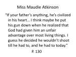 miss maudie atkinson