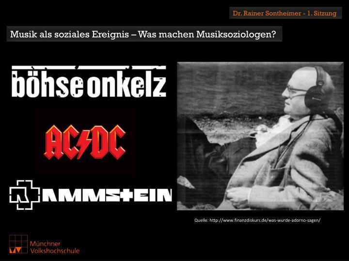Dr. Rainer Sontheimer - 1. Sitzung