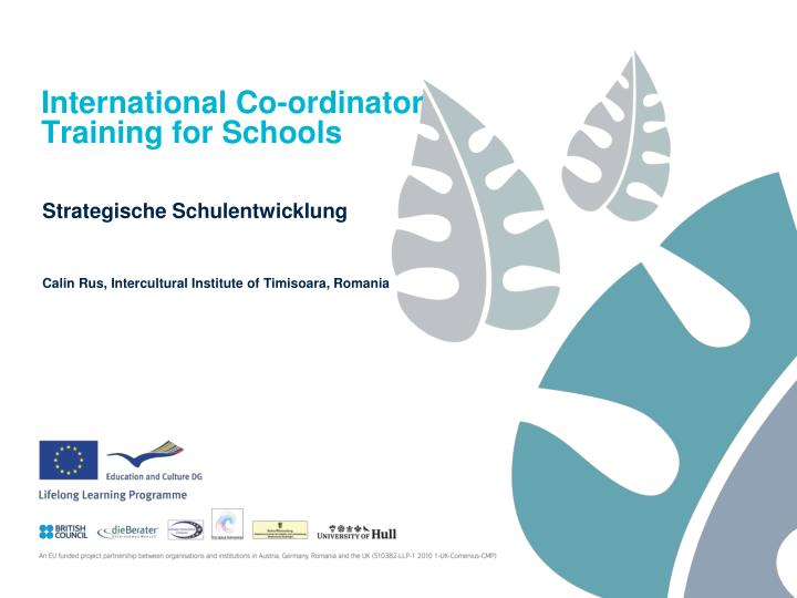 International co ordinator training for schools