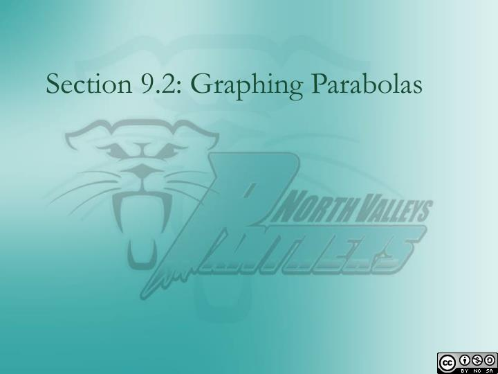 Section 9.2: Graphing Parabolas