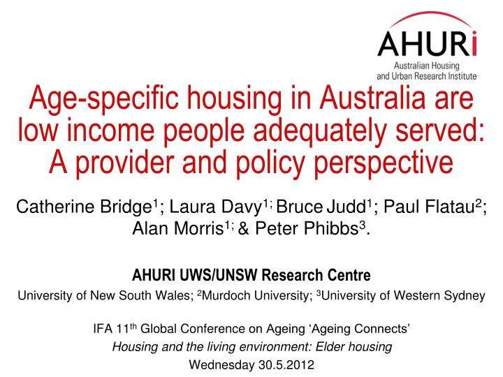 Age-specific housing in Australia