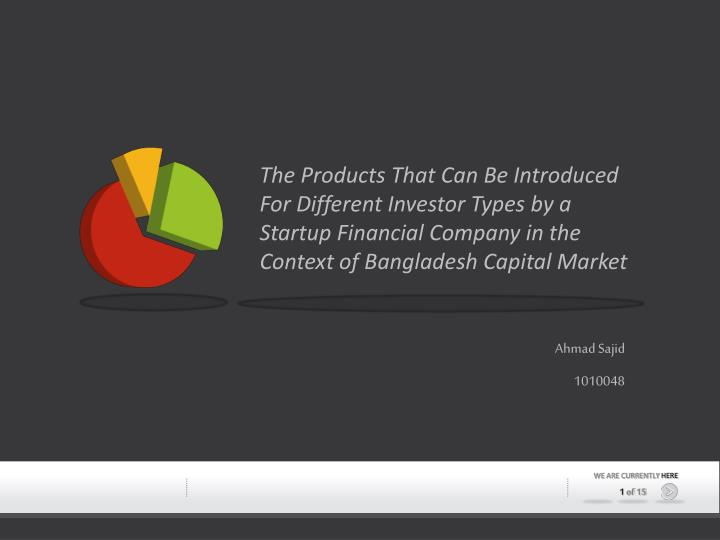 The Products That Can Be Introduced For Different Investor Types by a Startup Financial Company in the Context of Bangladesh Capital Market