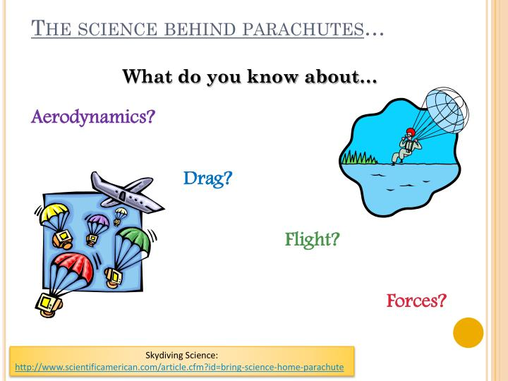 The science behind parachutes