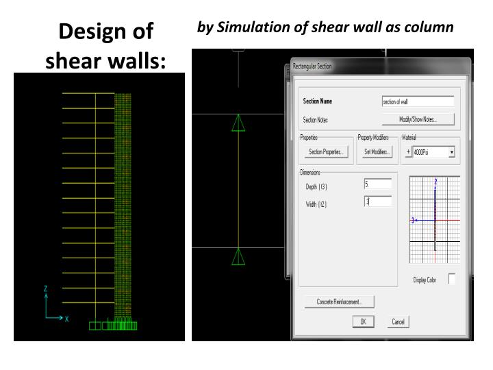 Design of shear walls: