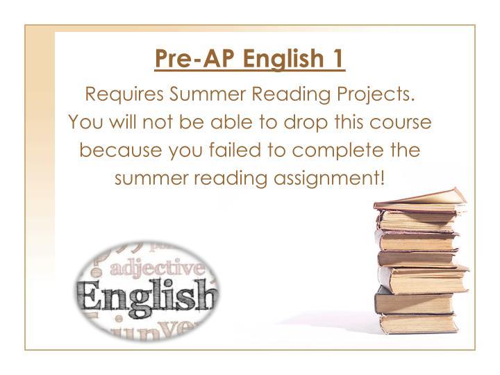 Pre-AP English 1