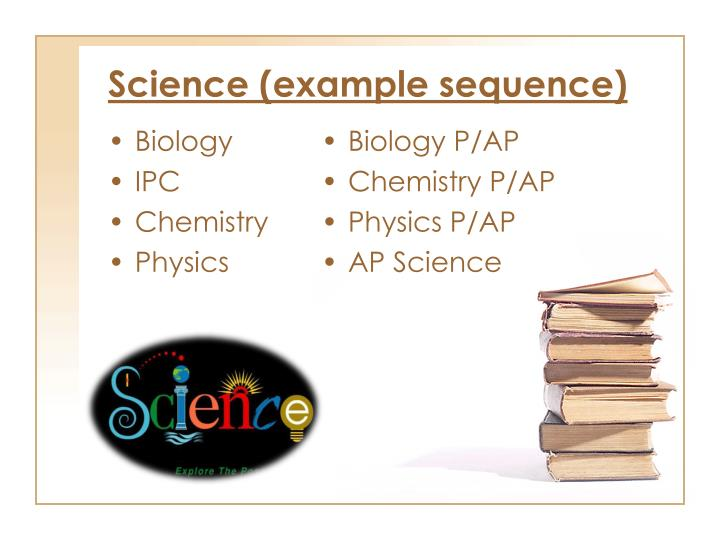 Science (example sequence)