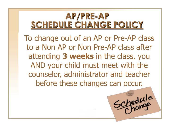 AP/PRE-AP