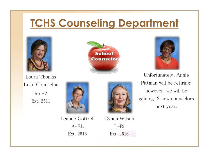 Tchs counseling department