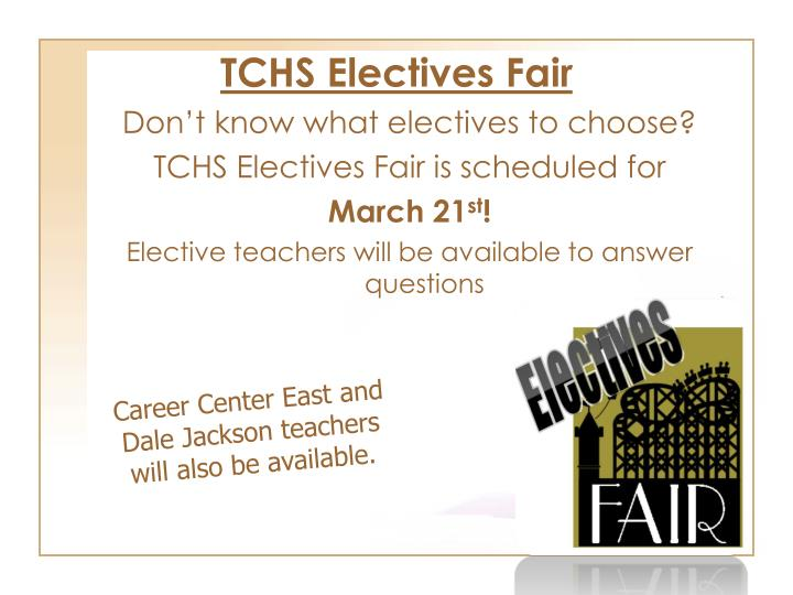 TCHS Electives Fair