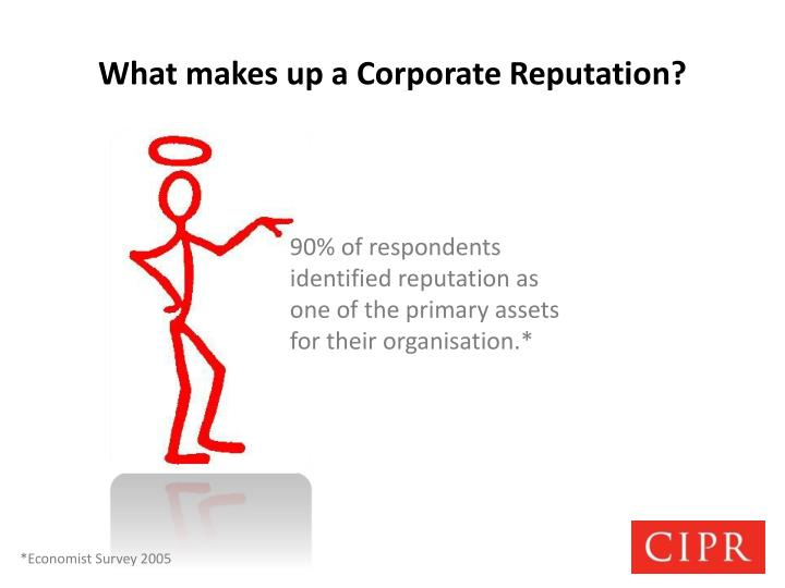 What makes up a corporate reputation