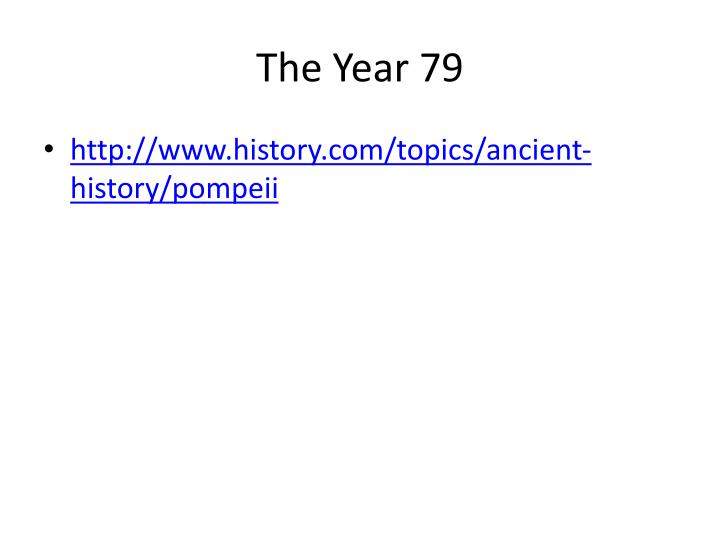 The year 79