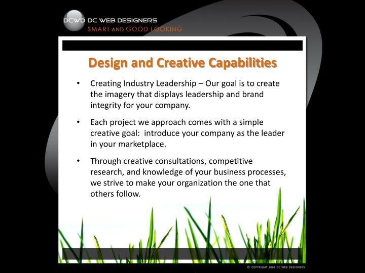 Design and Creative Capabilities