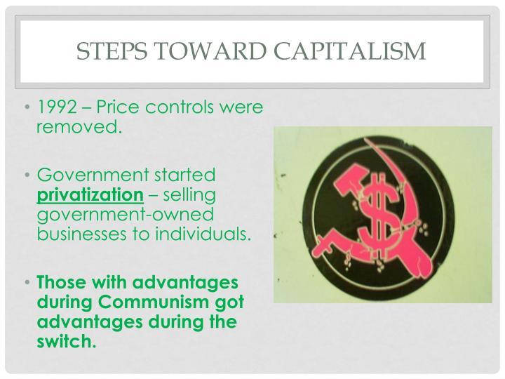 Steps toward capitalism
