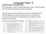 language paper 3